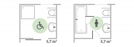 Grundrisse barrierefreies Badezimmer