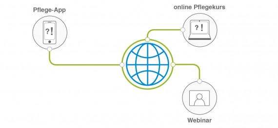 Umfrage digitale Pflege Internetnutzung