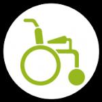 Gehhilfe Rollstuhl